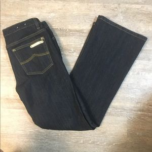Michael Kors jeans 6 dark wash boot cut stretch